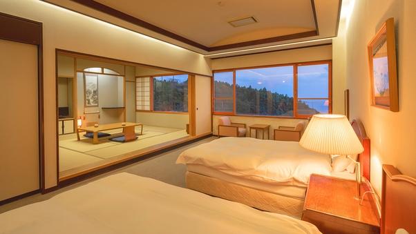 【和洋室36平米‐禁煙】心安らぐ、快適な設え(海側)