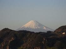 夕日富士山