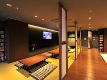 温泉休憩室。1階に移設しました。大型テレビ、マンガ完備。