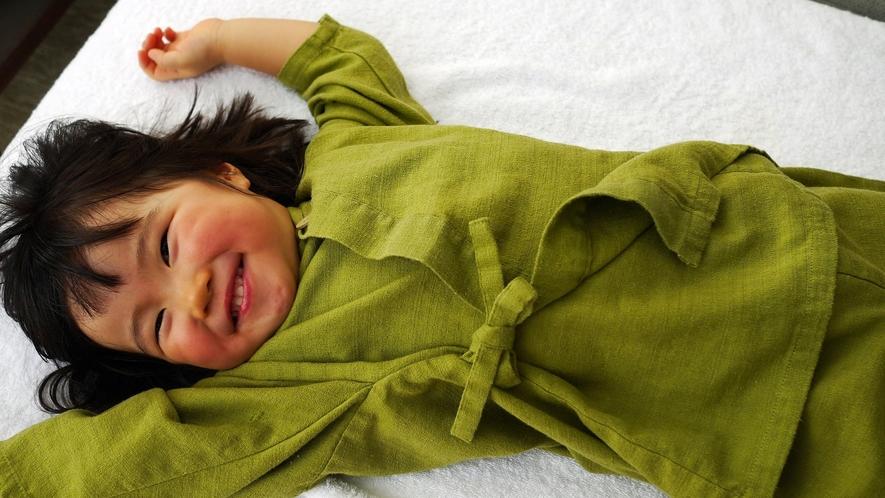 【アメニティ】お子様用の作務衣も2種類のサイズでご用意しております。