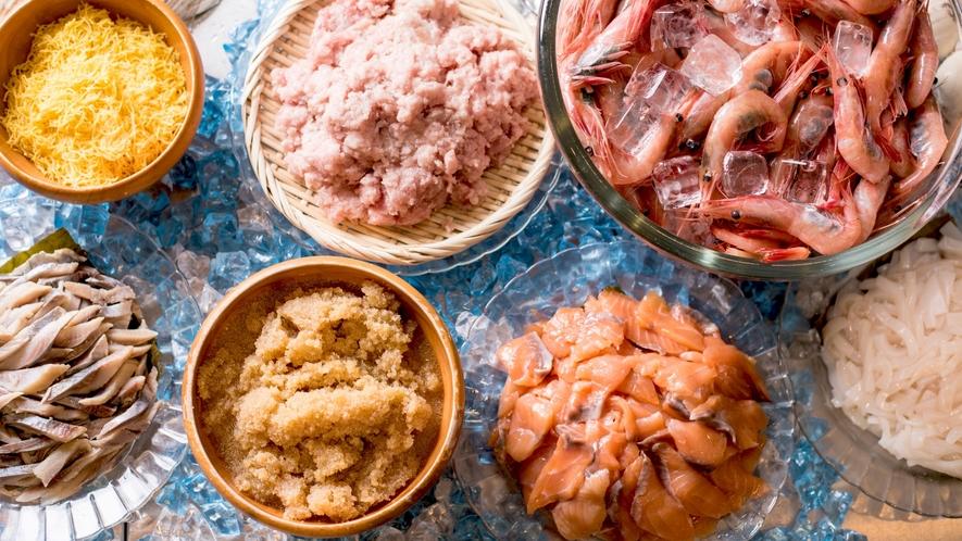 【朝食】日替わりの新鮮魚介類♪