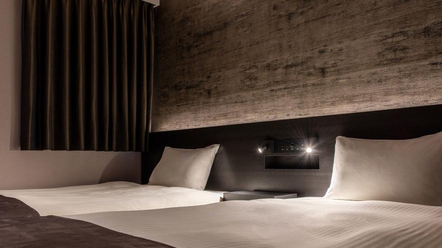 【モデレートツインルーム】24平米/110cm幅ベッド2台