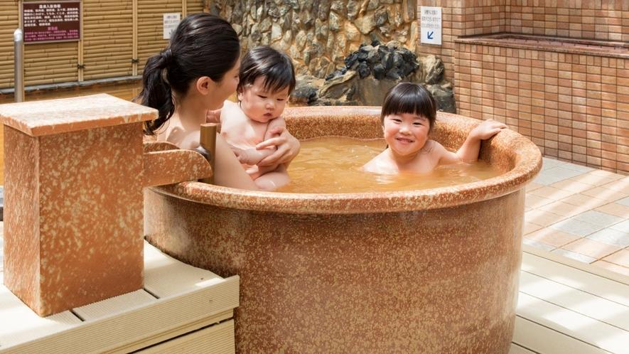 露天風呂にはつぼ湯もございます♪