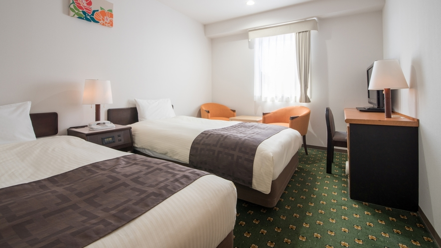【ツインルーム】17平米/110cm幅ベッド