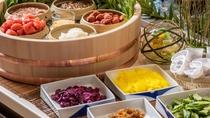【朝食】豊富なご飯のお供と共に、北海道米ゆめぴりかをお楽しみください♪