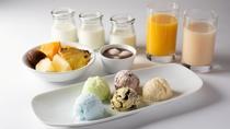 【朝食】お子様もニッコリ、アイスクリーム!他のデザートと組み合わせてオリジナルパフェも?