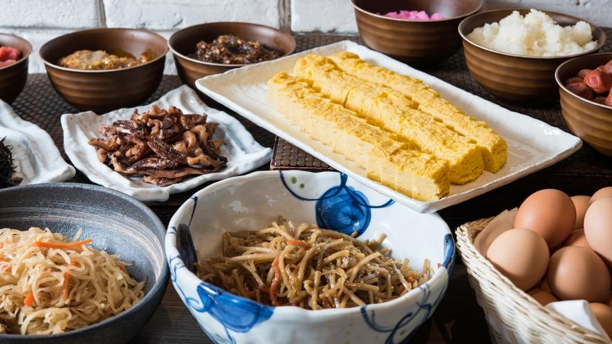 【朝食】ブッフェ台