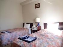 【ツインルーム】13.5㎡・シングルベッド(幅90cm)×2台