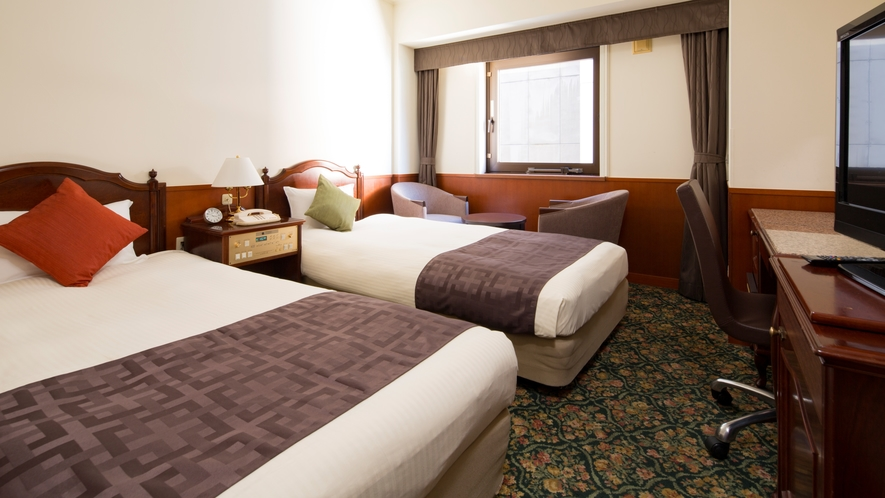 ツインルーム~19平米/100cm幅ベッド×2台
