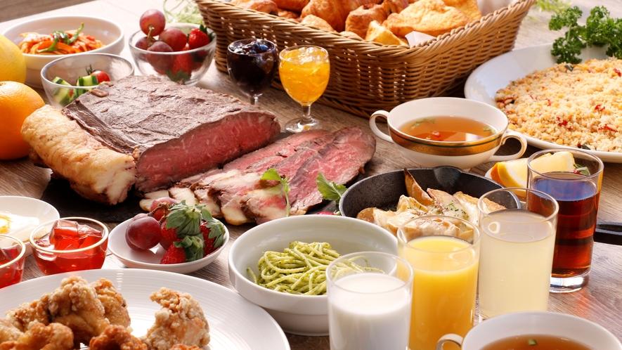 朝食ブッフェ~料理長自慢のローストビーフを朝から