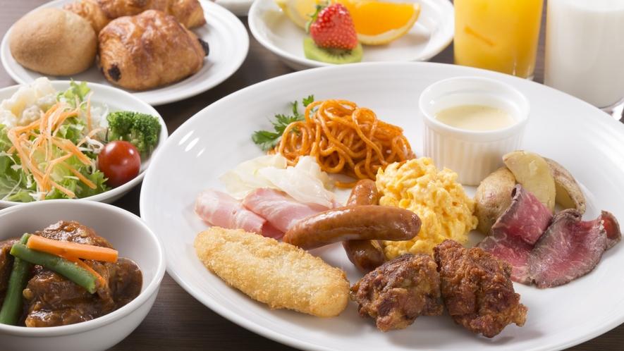 【朝食ブッフェ】盛り付け例