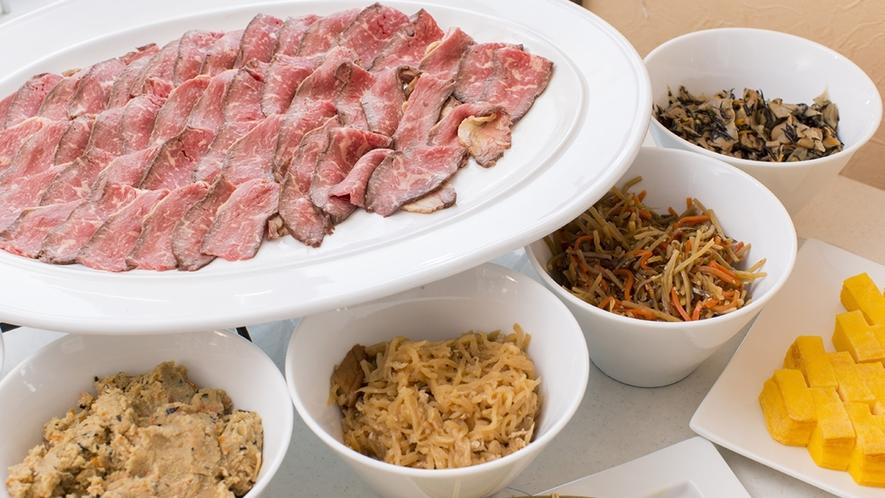 【朝食ブッフェ】ローストビーフ