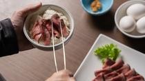 【朝食ブッフェ】メインディッシュのひとつ!ローストビーフ
