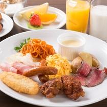 朝食バイキング[洋食]盛合せの一例