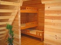 ログコテージ村民の家Ⅱ希のベッドルーム