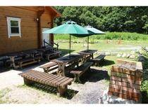 ログコテージ村民の家Ⅱ希の野外料理スペース