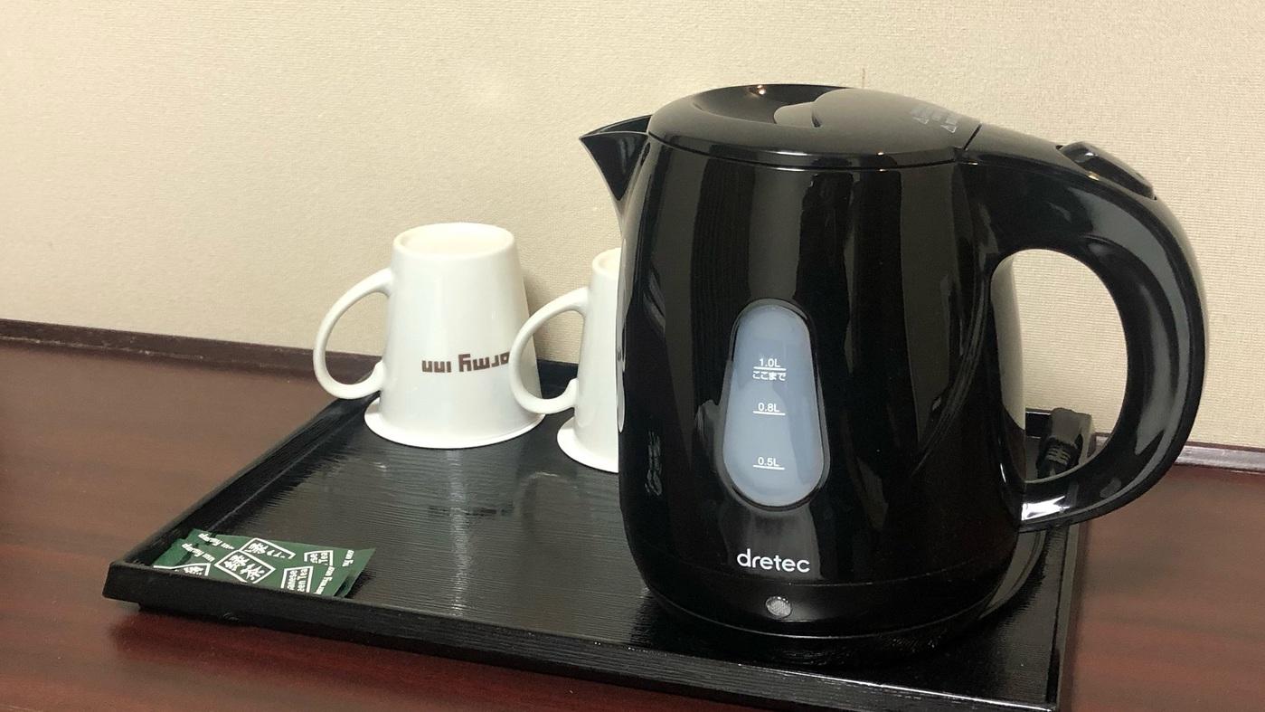 ◆客室 電気ポット・マグカップ