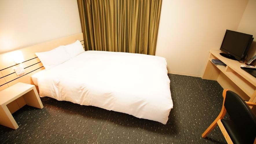 ◆ダブルルーム 18.0㎡ ベッドサイズ:140cm×195cm