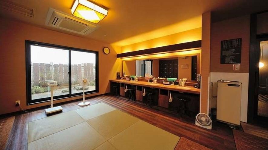 ◆男性大浴場 パウダーブース 4席