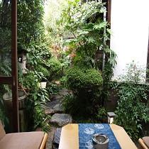 「つつじの間」から眺めることができる中庭です。