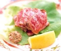食事例「千屋牛のステーキ」