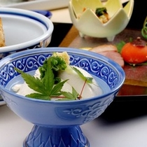 名水を使用した豆腐