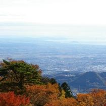 大山阿夫利神社からの絶景