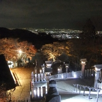 大山阿夫利神社下社からの夜景