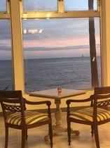 ホテル 海cafe ラウンジからの夕焼け