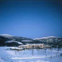 【冬】雪原にたたずむ