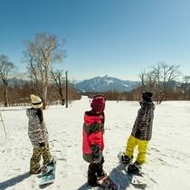 【冬】磐梯山に向かって