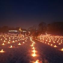 【冬】氷結した湖面にゆれる優しい炎〜エコナイトファンタジー〜