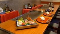 【鉄板焼きレストラン『落葉松』】目の前でダイナミックに焼き上げます ※イメージ