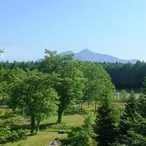 お部屋から見る景色※磐梯山と美しい緑の庭※