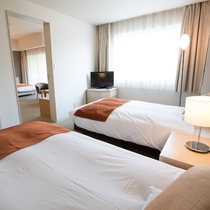 【禁煙】ファミリールーム洋室(4ベッドタイプ・46㎡)最大定員4名様 正規ベッド×4台