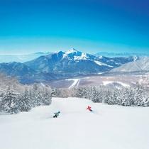 雄大な景色を望む・磐梯山