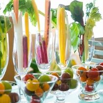 福島県産の野菜が存分に楽しめる朝食ブッフェ(Open 7:00 - Close 9:30)