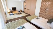 【和モダンツイン】最上階 33.87㎡ 畳&低床ベッドでお子様にオススメ!