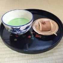 女将おすすめ♪本日の和菓子&お抹茶