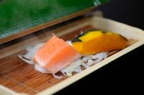 鮭と南瓜の蒸し物