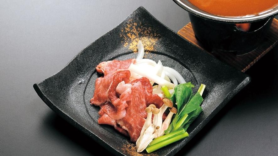 牛肉の陶板焼き(デミソース)
