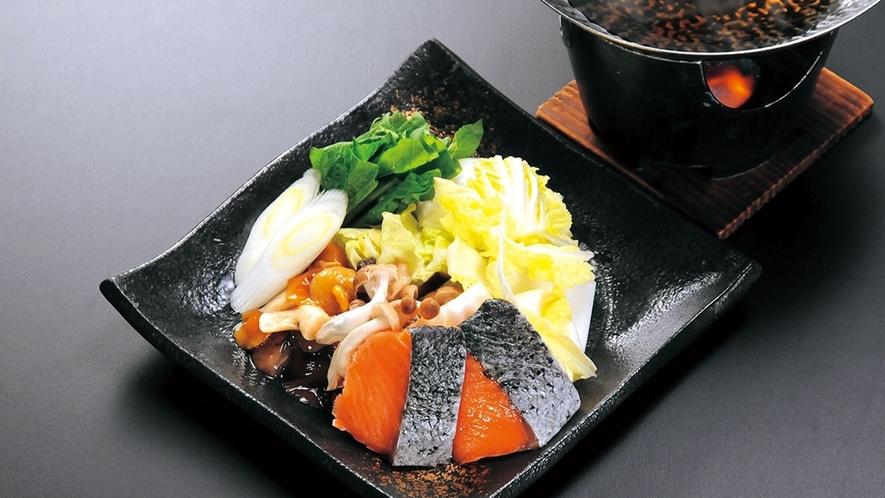 鮭と茸のお鍋