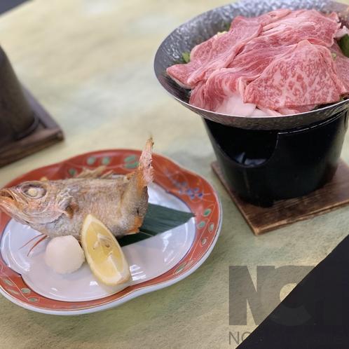 『のどぐろ』+『にいがた和牛Aすき焼き』
