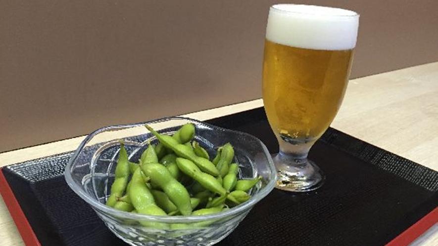 枝豆+グラス生ビール