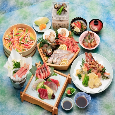 【4名様までお部屋食OK!】福井に来たらコレ!若狭敦賀の海鮮会席「宝船」
