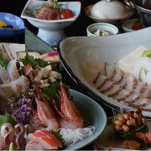 鯛しゃぶプランのお料理一例