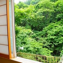 Bタイプ半露天風呂付き客室からの眺め。※イメージ