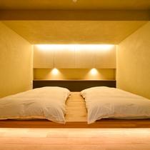 Bタイプ寝室(露天風呂付き客室メゾネットタイプ)