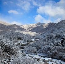 四万温泉雪景色