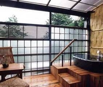 竹の間露天風呂 昼